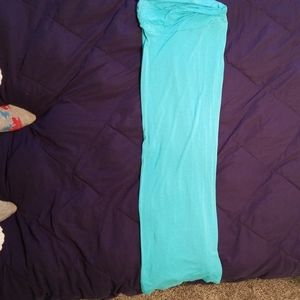 A light blue skirt